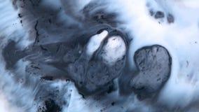 Aquarelle atramentu błękit Gulgocze na Białej Abstrakcjonistycznej teksturze zbiory wideo