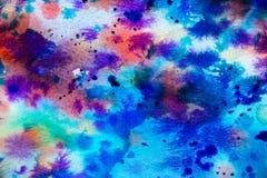 Aquarelle auf einem Papier Lizenzfreies Stockbild
