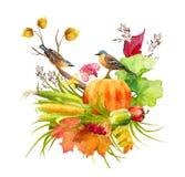 Aquarelle Autumn Thanksgiving Composition illustration stock