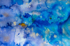 Aquarelle background. Colors on paper Stock Image