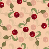 Aquarelle Berry 1. Watercolor pattern made from red berries and green branches Royalty Free Stock Photos