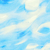 Aquarelle bleue abstraite, vague de mer Photos stock