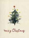 Aquarelle card_02 de salutation de Noël illustration libre de droits