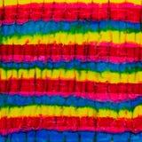 Aquarelle carrée avec les lignes bleues, jaunes et rouges Photographie stock