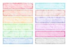 Aquarelle colorée Photos libres de droits