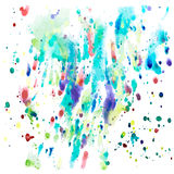 Aquarelle colorée illustration stock