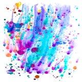 Aquarelle colorée illustration libre de droits