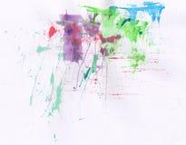 Aquarelle colorée Image stock