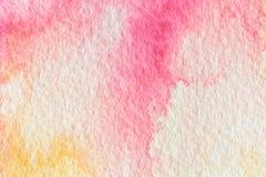 Aquarelle colorée abstraite pour le fond Photos libres de droits