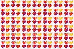 Aquarelle colorée de coeurs illustration de vecteur