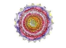 Aquarelle colorée de mandala Photographie stock