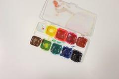 Aquarelle colorée de peinture Photographie stock