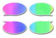 Aquarelle d'étiquette d'entretien de bulle sur le fond blanc Photos stock