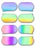 Aquarelle d'étiquette d'entretien de bulle sur le fond blanc Photographie stock libre de droits