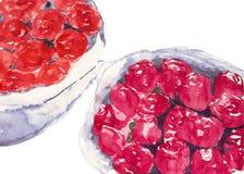 Aquarelle de bouquet de Rose peinte Image stock