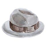 Aquarelle de chapeau Images stock