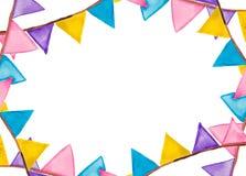 Aquarelle de fête de drapeaux de couleur Photos libres de droits