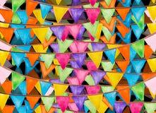 Aquarelle de fête de drapeaux de couleur Photo libre de droits
