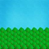 Aquarelle de forêt et de ciel sur le papier Photographie stock