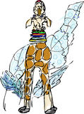 aquarelle de girafe Image stock