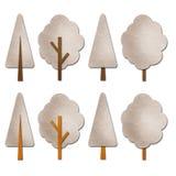 Aquarelle de l'hiver d'arbre   Photos libres de droits
