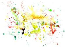 Aquarelle de peinture de jet sur le fond blanc Images libres de droits