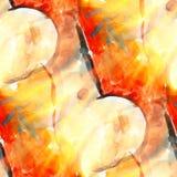 Aquarelle de photo d'art de lumière du soleil sans couture illustration libre de droits