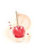 Aquarelle de pomme de sucrerie Photographie stock libre de droits