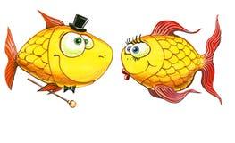 Aquarelle de signe de zodiaque de poisson rouge Photos libres de droits