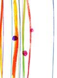 Aquarelle des lignes et du point Image stock