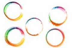 Aquarelle design elements isolated on white background. Stock Image