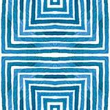 Aquarelle géométrique bleue Bagout sans couture curieux illustration libre de droits