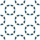 Aquarelle géométrique bleue Configuration sans joint Ornement extérieur image stock