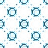 Aquarelle g?om?trique bleue Configuration sans joint Ornement ext?rieur illustration libre de droits