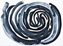 Aquarelle grise abstraite sur la texture de papier comme fond photos stock