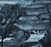 Aquarelle grise abstraite sur la texture de papier comme fond Photo libre de droits