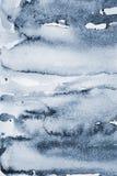 Aquarelle grise abstraite sur la texture de papier comme fond photographie stock libre de droits