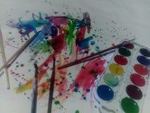 Aquarelle i farby Zdjęcie Stock