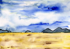 Aquarelle landscape Stock Images