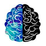 Aquarelle Logo Modern Brain Sign de la psychologie humain Type créateur Icône dedans Concept de construction Société de marque bl Photographie stock libre de droits
