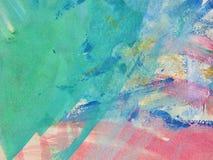 Aquarelle malen gemalt mit Bürste auf einem Papier Stockbild