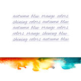 Aquarelle mountains yellow blue note Stock Images