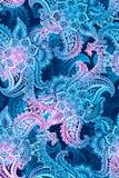 Aquarelle Paisley tiré par la main Configuration sans joint illustration libre de droits