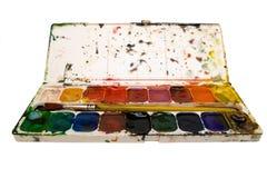 Aquarelle palet Stockfotografie