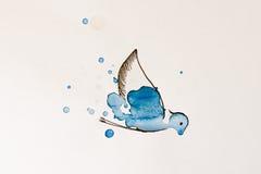 Aquarelle peinte par oiseau Image stock