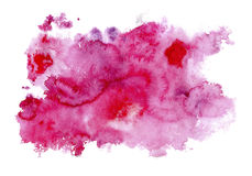 aquarelle rose de fond Photo libre de droits