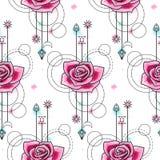 Aquarelle Rose Seamless Pattern Photos libres de droits