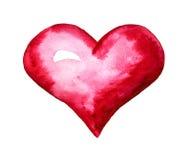 Aquarelle rouge de coeur Photo stock