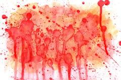 Aquarelle rouge de fond Photographie stock libre de droits
