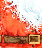 Aquarelle Santa Claus Santa Claus Background Image libre de droits